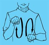Язык жестов – креативный метод.