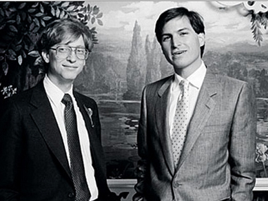 Билл Гейтс и Стив Джобс в молодости